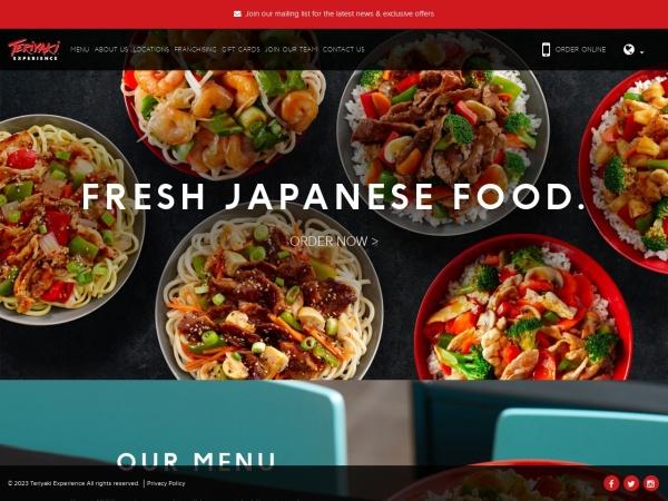 Screenshot of www.teriyakiexperience.com