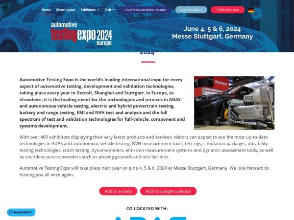 Screenshot of www.testing-expo.com