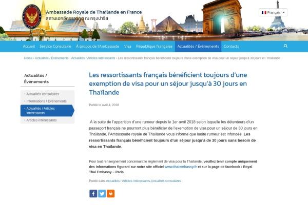 http://www.thaiembassy.fr/fr/2018/04/04/les-francais-beneficient-toujours-dun-sejour-de-30-jours-sans-visa-en-thailande/
