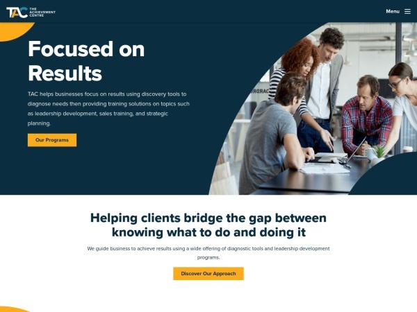 Screenshot of www.theachievementcentre.com
