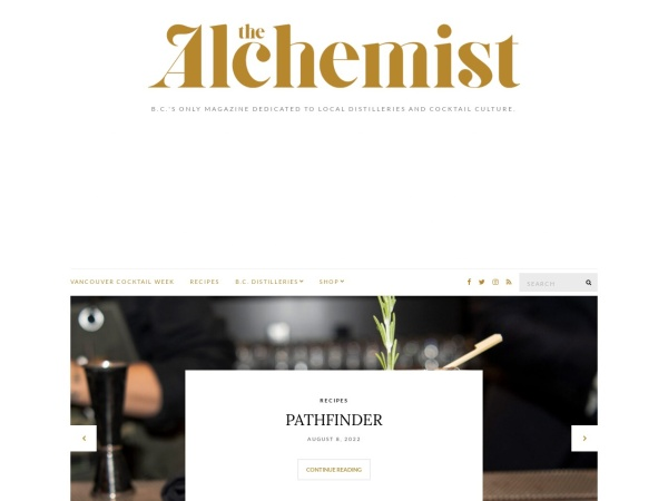 Screenshot of www.thealchemistmagazine.ca