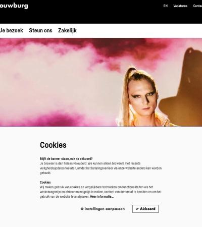Screenshot of www.theater-haarlem.nl