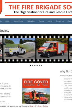 Screenshot of www.thefirebrigadesociety.co.uk