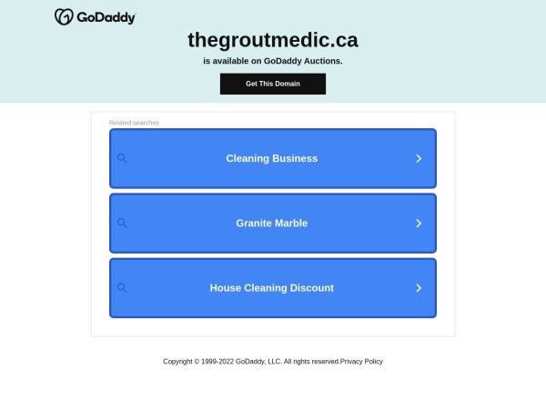 Screenshot of www.thegroutmedic.ca
