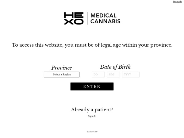 Screenshot of www.thehydropothecary.com