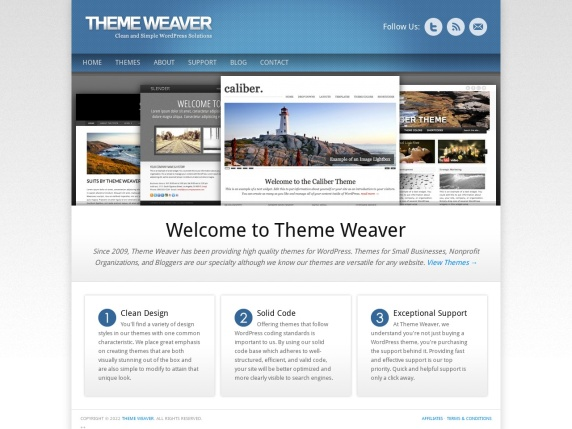 Homepage di Theme Weaver