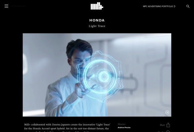 Screenshot of www.themill.com