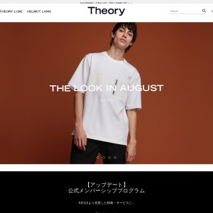 Screenshot of www.theory.co.jp