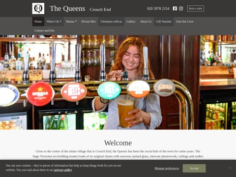 http://www.thequeenscrouchend.co.uk