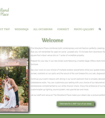 Screenshot of www.thewoodlandplace.com