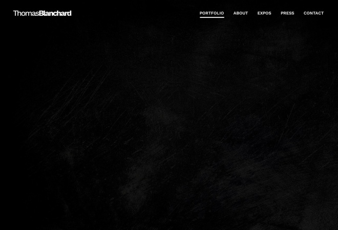 Screenshot of www.thomas-blanchard.com