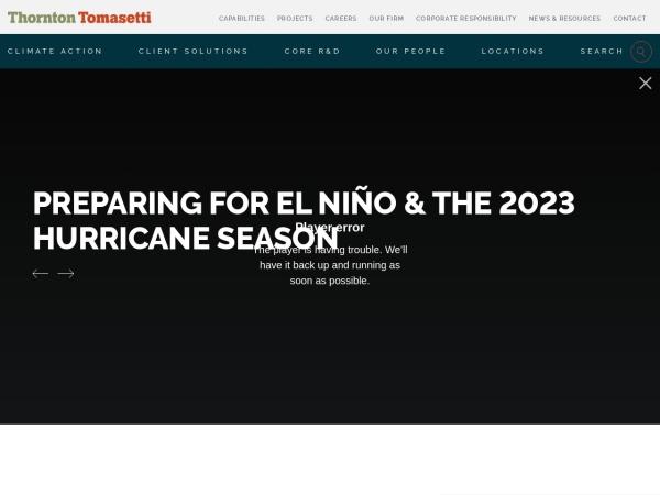 Screenshot of www.thorntontomasetti.com