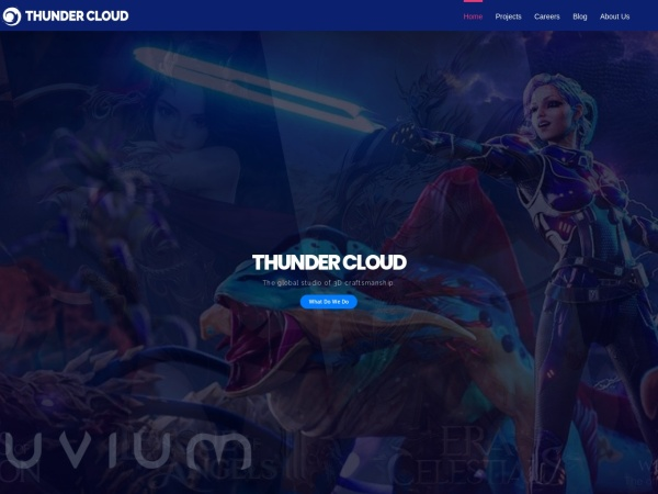 Screenshot of www.thundercloud-studio.com