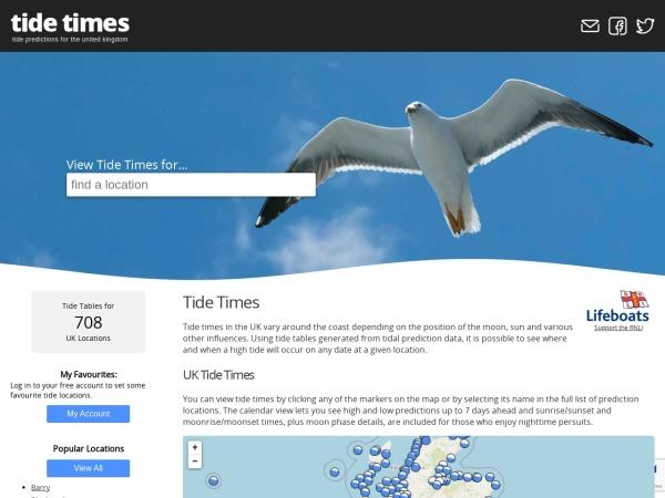 Screenshot of www.tidetimes.org.uk