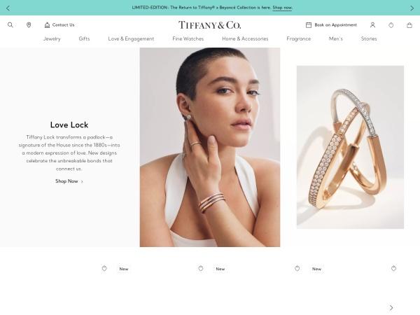 Screenshot of www.tiffany.com