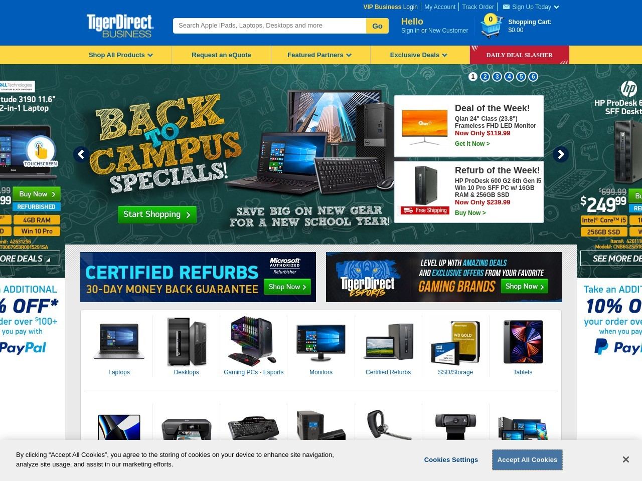 http://www.tigerdirect.com/applications/campaigns/deals.asp?campaignid=2557