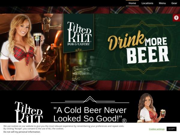 Screenshot of www.tiltedkilt.com