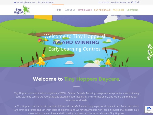 Screenshot of www.tinyhoppers.ca