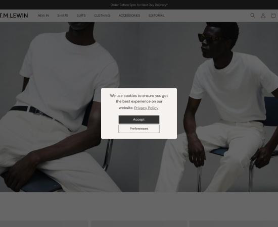Screenshot of www.tmlewin.co.uk