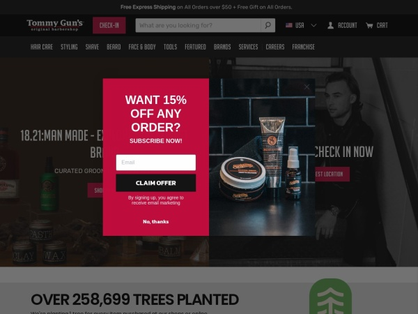 Screenshot of www.tommyguns.com