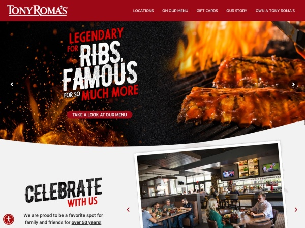 Screenshot of www.tonyromas.com