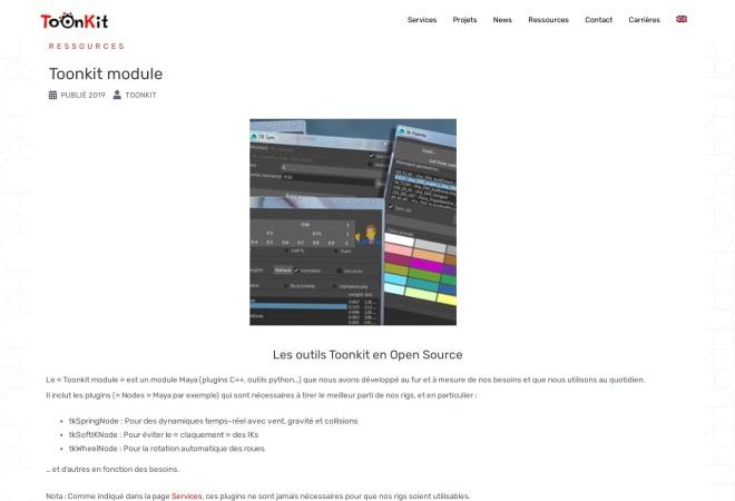 Screenshot of www.toonkit-studio.com
