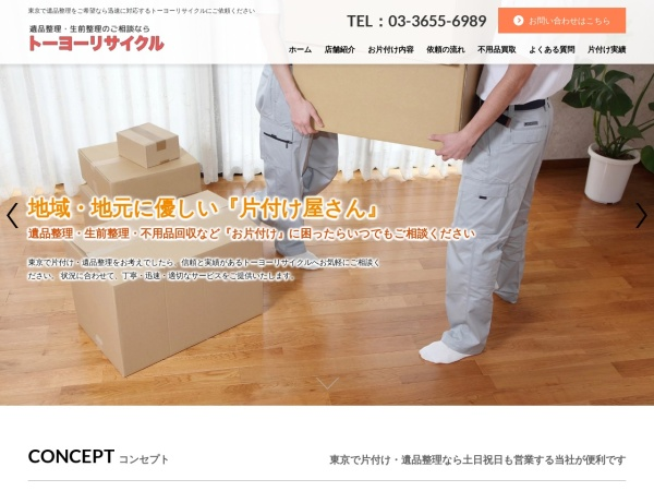 Screenshot of www.toyorecycle.com