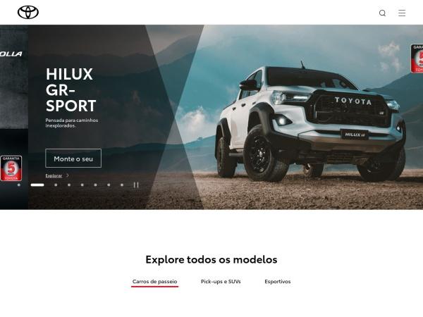 Screenshot of www.toyota.com.br