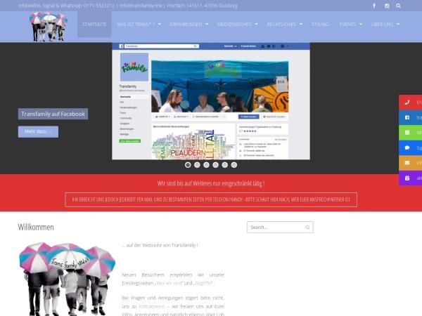 Screenshot of www.transfamily.nrw