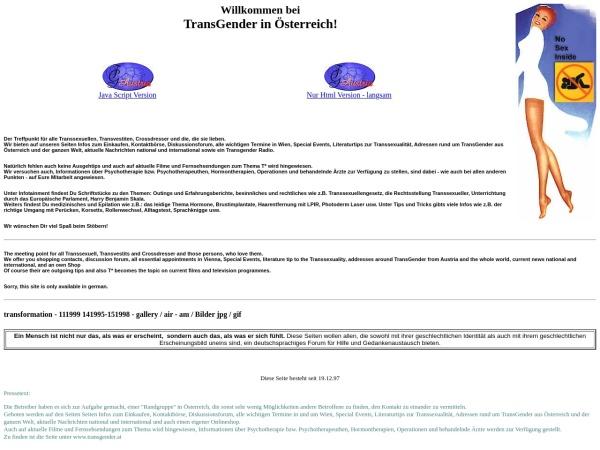 Screenshot von www.transgender.at