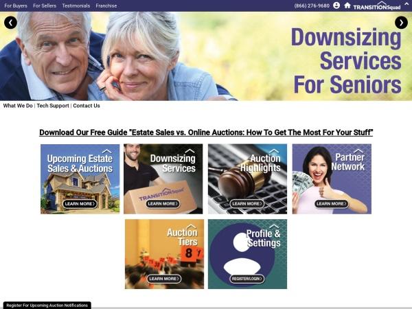 Screenshot of www.transitionsquad.com