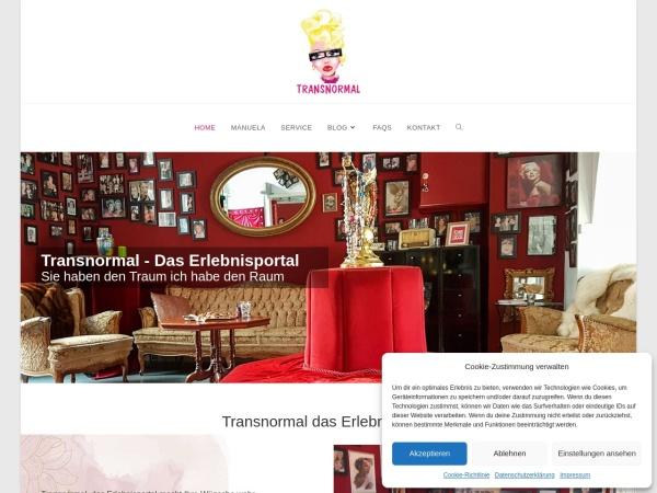 Screenshot von www.transnormal.de