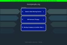 Screenshot of www.transpeople.org