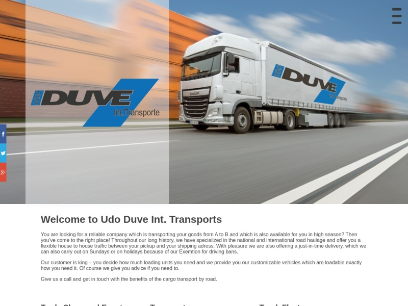 Screenshot von www.transporte-duve.com