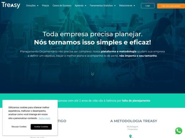 Screenshot of www.treasy.com.br