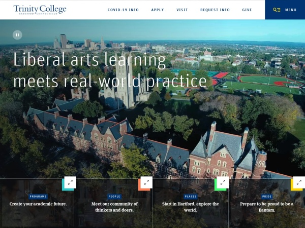 Screenshot of www.trincoll.edu