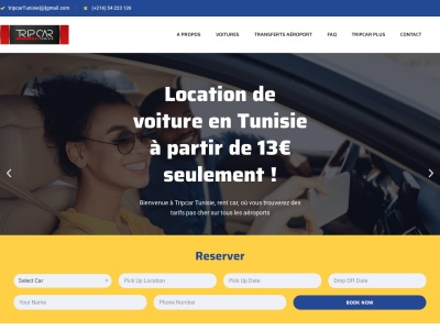 Le leader de location de voiture en Tunisie