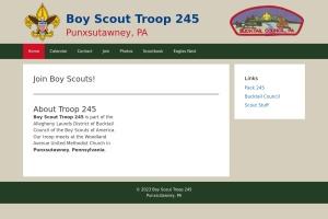 Screenshot of www.troop245.punxsy.org