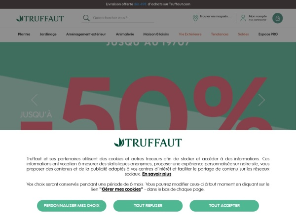 Screenshot of www.truffaut.com