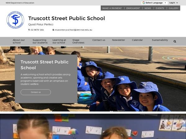 Screenshot of www.truscottst-p.schools.nsw.edu.au
