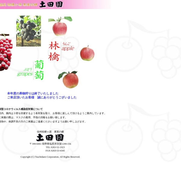 Screenshot of www.tsuchidaen.co.jp