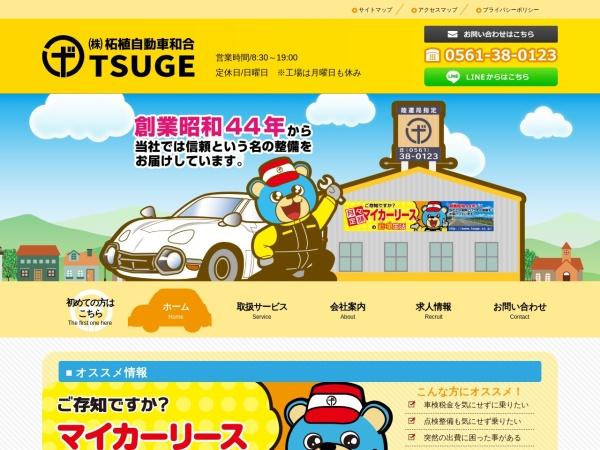 Screenshot of www.tsuge.co.jp