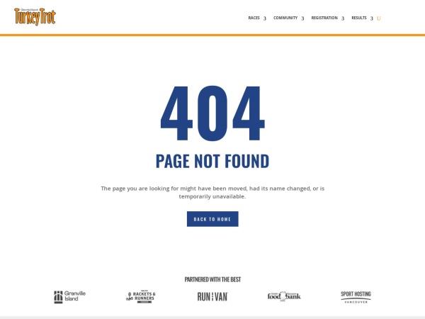 Screenshot of www.turkeytrot.ca