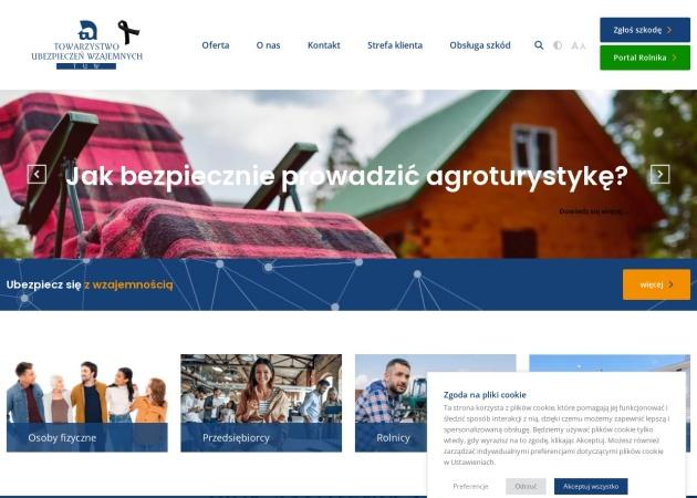 Screenshot of www.tuw.pl