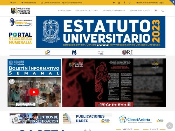 Screenshot of www.uadec.mx