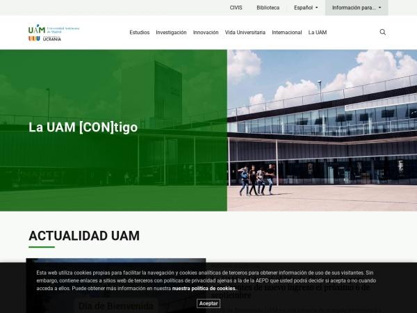 Screenshot of www.uam.es