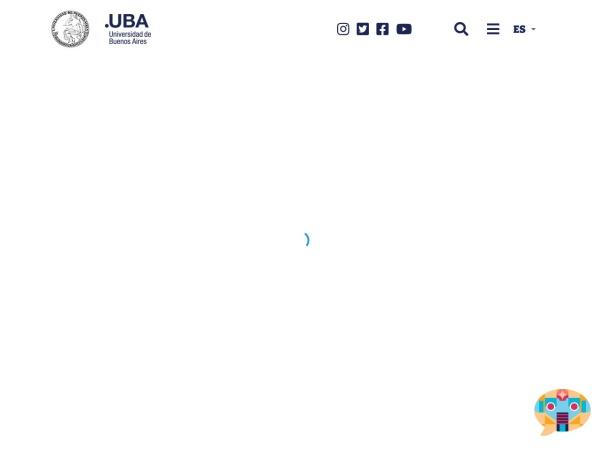Screenshot of www.uba.ar