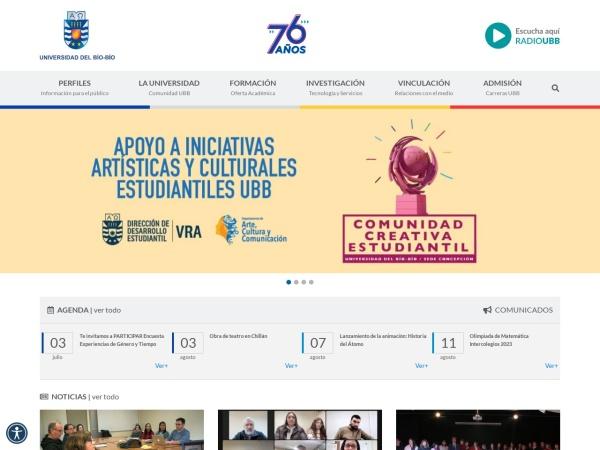 Screenshot of www.ubiobio.cl