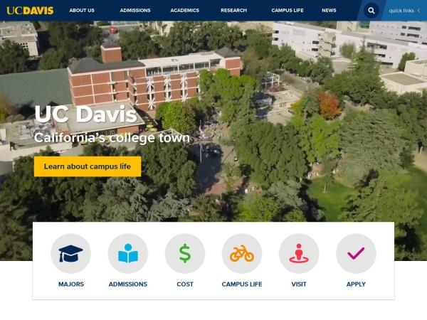 Screenshot of www.ucdavis.edu
