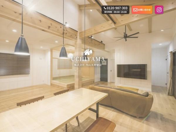 Screenshot of www.uchiyama-mokuzai.co.jp